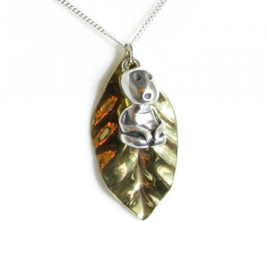 NEW - Deluxe Tree Spirit - Kodama/Leaf Necklace