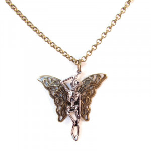 Butterfly Skeleton Necklace