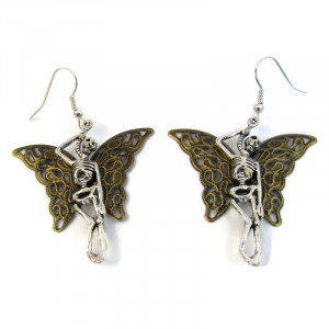 Butterfly Skeleton Earrings