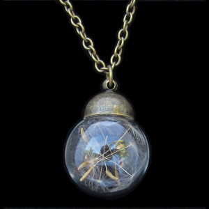 Round Taraxacum Bottle Necklace