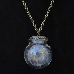 Large Round Taraxacum Bottle Necklace