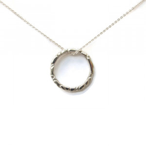 Deluxe Silver Ring Necklace