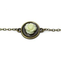 Elegant White Rose Bracelet