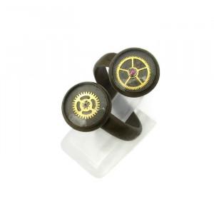 Antique Bronze Steampunk Ring