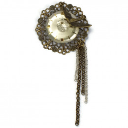 'Time flies' Brooch