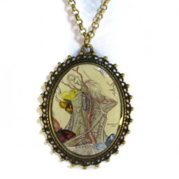 'Mindfulness II' - Victorian Style Oval Necklace