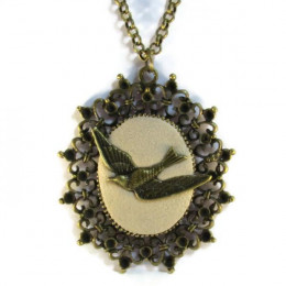 Antique Bird Necklace