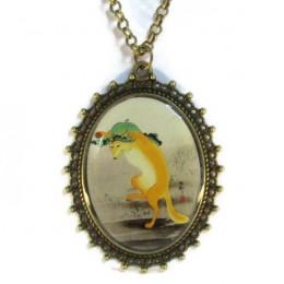 Dancing Fox Necklace - Necklace