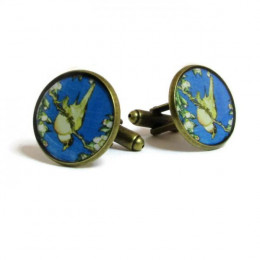 Weeping Cherry and Bullfinch - Cufflinks