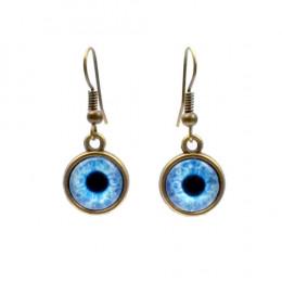 Blue Zombie Eye Earrings