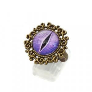 Purple Dragon Eye Ring