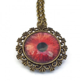 Red Zombie Eye Necklace