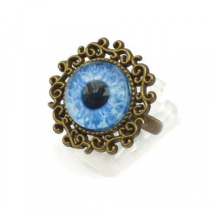 Blue Zombie Eye Ring