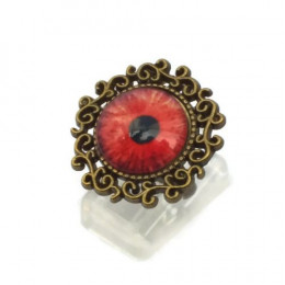 Red Zombie Eye Ring