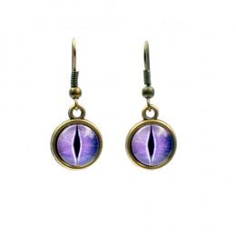 Purple Dragon Eye Earrings