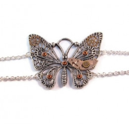 Antique Silver Coloured Butterfly Bracelet