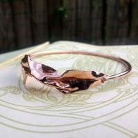 Organic Copper Bangle | Metal Origami Bangle | Healing Copper Jewelry | Healing Bracelet | Fold Formed Bangle | Handmade in the UK