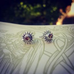 Recycled Silver Cogs Gears Stud Earrings I Steampunk Mechanical Stud Earrings I Geek Birthday Gift for Her & Friends I Cyberpunk Wedding Gift