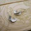 Mermaid Style Earrings | Wavy Fine Silver Earrings | Sea Shell Style Earrings | Handmade in the UK | One Of A Kind