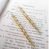 Twisted Brass Earrings   Icicle Earrings   Swirly Earrings   Gift for Her   Contemporary Brass Jewelry   Statement Earrings