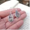 Magical Agate Earrings | Moss Agate Earrings | Elegant Teardrop Earrings | Healing Crystal Earrings | Eco Silver Jewellery | Mom to Be Gift