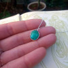 Petite Turquoise Pendant   Natural Turquoise Gemstone Necklace   December Birthstone   Good Fortune Necklace   Good Luck Charm