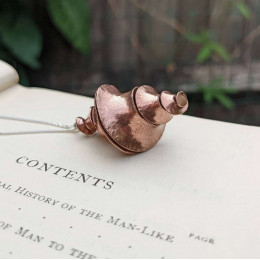 Twisted Swirly Copper Necklace | Infinity Pendant | Unique Statement Necklace | Birthday Gift for Women | Mom & Best Friend Gift