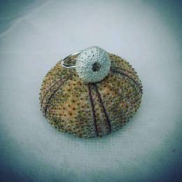 Greek Urchin Ring | Recycled Sterling Silver Sea Urchin Ring | Magical Sea Life Jewellery | Grecian Sea Urchin Jewellery