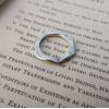 Eco Silver Thumb Ring   Ruby Stacking Ring   Wavy Ring   Hidden Pink Rose Gem Ring   Magical Silver Band   Contemporary Ring
