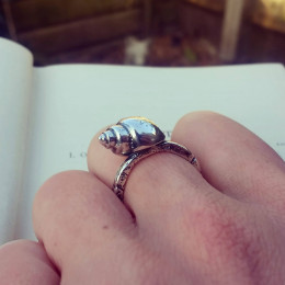 Silver Mermaid Ring | Magical Sea Shell Ring | Silver Sea Shell Jewellery | Greek Sea Jewelry | Birthday Gift for Her | Alternative Jewelry