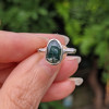 Emerald Green Moss Agate Ring | Engagement Ring | Solace Jewellery | Pinky Ring | Magical Ring | Personalised Gift | Healing Crystal Ring