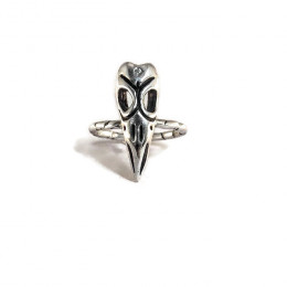 Three Eyed Raven Skull Ring