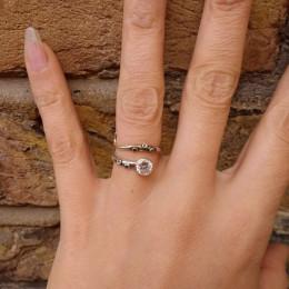 Octopus Tentacle Ring   Kraken Ring   Cthulhu Lovecraft Ring   Engagement Ring   White Topaz Gemstone Ring   November Birthstone Ring