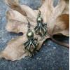 Bronze Octopus Earrings | Kraken Earrings | Cthulhu Lovecraft Earrings | Halloween Party Gift | Horror Jewelry | Costume Party