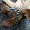 Silver Hanging Skeleton Earrings | Death Earrings | Halloween Skeleton Earrings | Gothic Jewellery