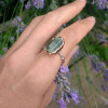 NEW - Copper Electroformed Sapphire on Sterling Silver Ring Band