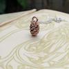 Mini Alder Cone Bracelet | Friendship Bracelet | Silver Bracelet for Women | Magical Birthday Gift |Organic Fruit Bracelet | Handmade in the UK