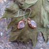 NEW - Rose Quartz Dangle Earrings on Sterling Silver Ear Wires