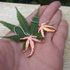 NEW - Real Japanese Maple Leaf Earrings