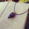 SOLD - The Dark Crystal | Large Amethyst Pendant on Waxed Cotton Cord