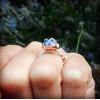Blue Tanzanite on Sterling Silver Band Ring | Rough Tanzanite Gemstone Ring | Tanzanite Crystal Jewelry | December Birthstone Ring