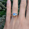 NEW - Blue Tanzanite on Sterling Silver Band Ring