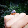 NEW - Rough Star Ruby on Sterling Silver Band Ring II