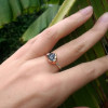 NEW - Blue Cambodian Zircon on Sterling Silver Ring Band