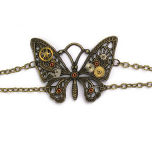 Antique Bronze Coloured Butterfly Bracelet