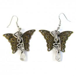 Butterfly Skeleton Earrings