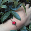 Elegant Red Rose Bracelet