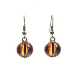 Brown Dragon Eye Earrings