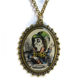 'The Hatter' - Victorian Style Oval Necklace