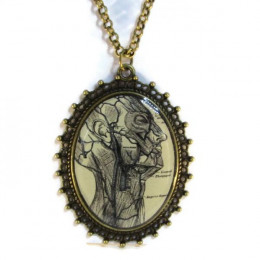 'Mindfulness I' - Victorian Style Oval Necklace